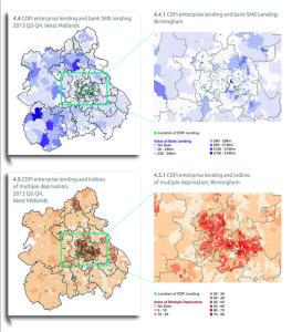 Business lending maps for West Midlands