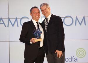 Charles Sumner picks up his award