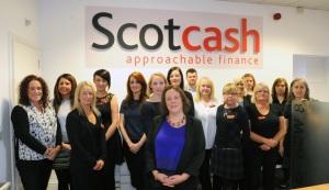 Scotcash pick up their award