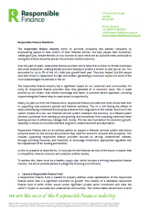 Responsible Finance Manifesto 2017