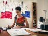Young entrepreneur doing finances